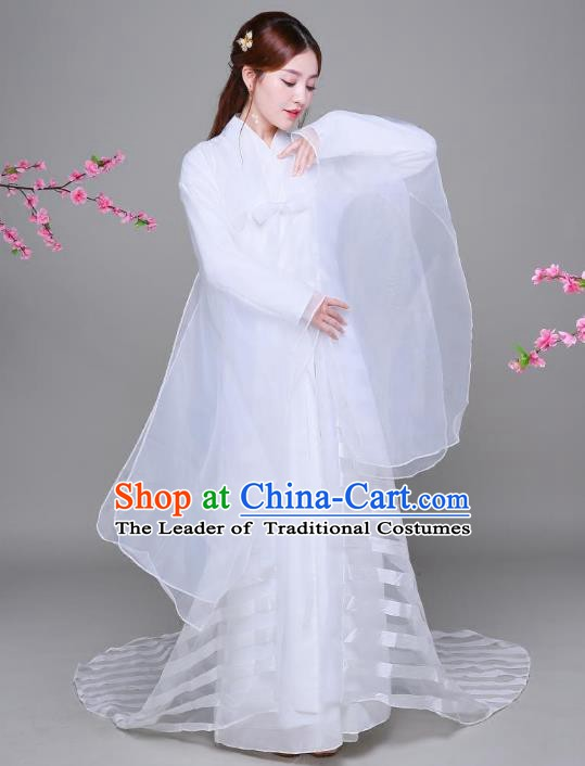 Traditional Chinese Song Dynasty Palace Princess Costume, China Ancient Fairy Hanfu Dress for Women