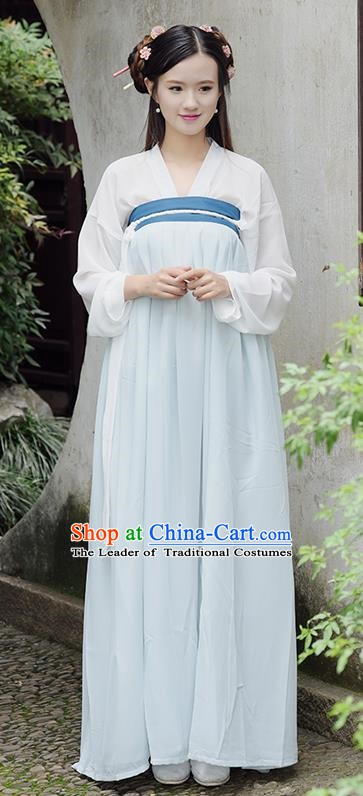 Traditional Chinese Tang Dynasty Young Lady Costume, China Ancient Princess Hanfu Dress Clothing for Women