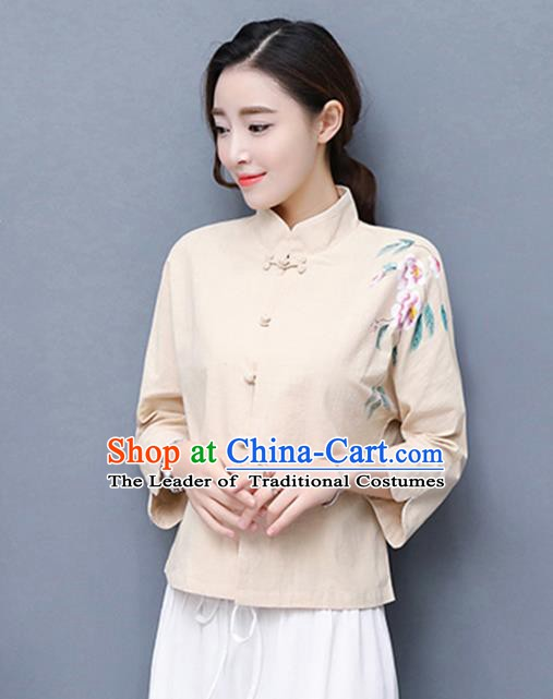 93dc625caf4 Traditional Chinese National Costume Hanfu Plated Buttons Qipao Blouse