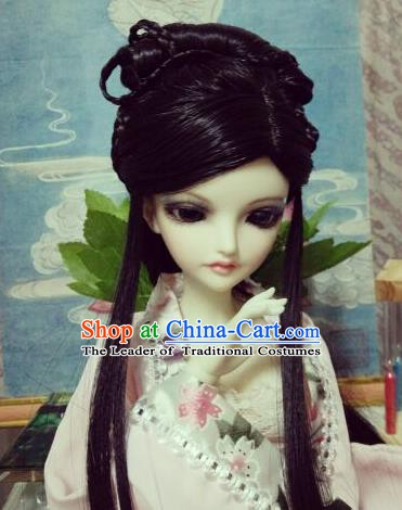 Traditional Handmade Chinese Ancient Fairy Princess Wig Sheath Wiggery for Women