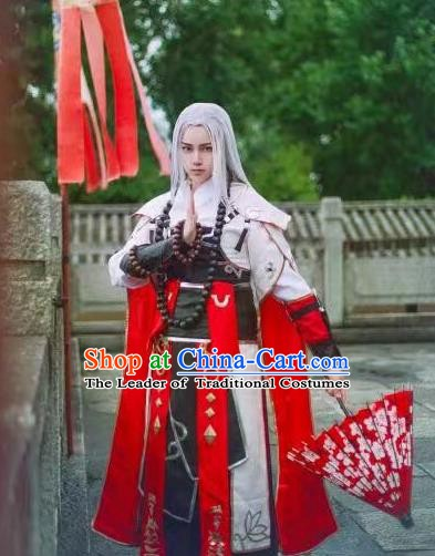 Traditional Chinese Ming Dynasty Swordsman Costume Knight Clothing for Men