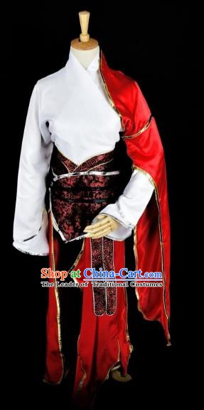 Traditional Chinese Cosplay Ming Dynasty Swordsman Costume Ancient Kawaler Clothing for Men