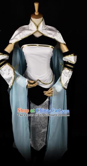 Traditional Chinese Ancient Cosplay Swordsman Clothing Ming Dynasty Heroine for Women