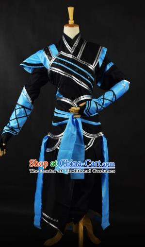 Traditional Chinese Ancient Swordsman Costume, China Tang Dynasty Imperial Bodyguard Clothing for Men