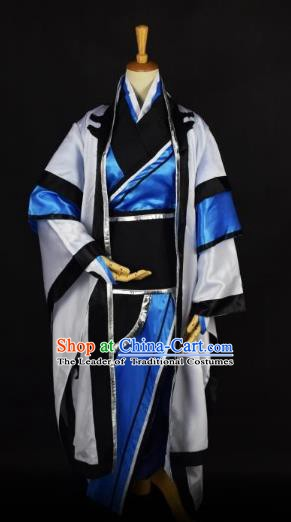Traditional Chinese Ancient Taoist Costume, China Tang Dynasty Grey Priest Frock for Men