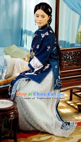 Traditional Chinese Ancient Republic of China Nobility Mistress Embroidered Xiuhe Suit Costume