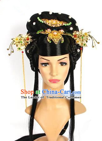 Traditional Chinese Ancient Palace Princess Hair Accessories Hairpins and Wig for Women