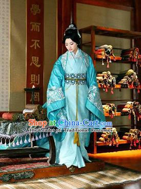 Traditional Chinese Ancient Han Dynasty Imperial Concubine Embroidered Hanfu Clothing for Women