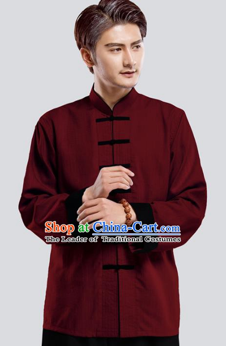 Top Grade Chinese Kung Fu Costume Tai Ji Training Uniform, China Martial Arts Tang Suit Gongfu Clothing for Men