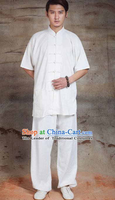 Top Grade Chinese Kung Fu Costume Tai Ji Training Uniform, China Martial Arts Gongfu Clothing for Men