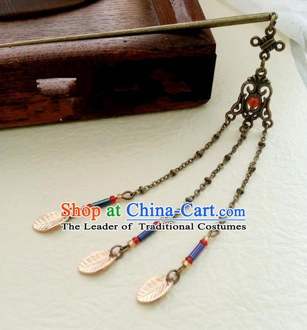 Traditional Handmade Chinese Ancient Classical Hair Accessories Tassel Hairpins Headwear for Women