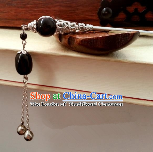 Traditional Chinese Handmade Classical Hair Accessories Step Shake Ancient Hanfu Tassel Hairpins for Women