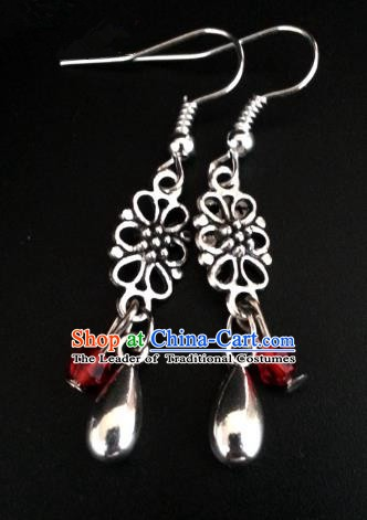 Asian Chinese Traditional Handmade Jewelry Accessories Princess Sliver Eardrop Hanfu Classical Earrings for Women