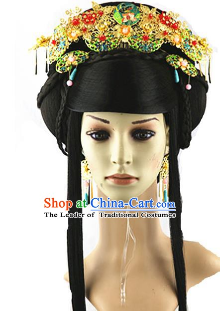 Asian Chinese Handmade Classical Hair Accessories Shell Phoenix Coronet Hairpins Headwear Complete Set for Women