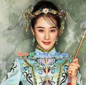 Asian Chinese Handmade Classical Hair Accessories Bride Headwear Xiuhe Suit Hairpins Complete Set for Women