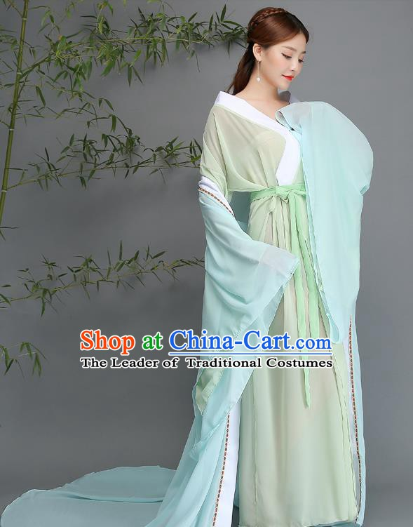 Traditional Chinese Ancient Palace Lady Fairy Costume, China Tang Dynasty Imperial Consort Hanfu Clothing for Women