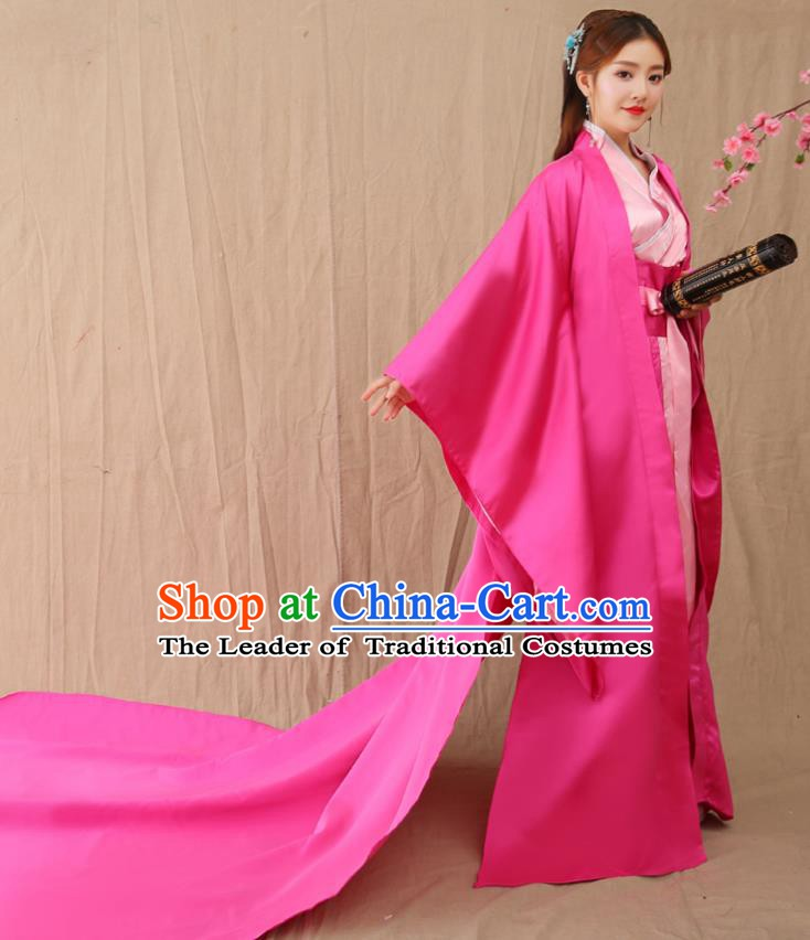 Traditional Chinese Ancient Palace Princess Costume, China Han Dynasty Imperial Consort Trailing Hanfu Clothing for Women