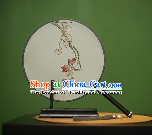 Traditional Chinese Crafts Round Silk Fan, China Palace Fans Princess Printing Circular Fans for Women