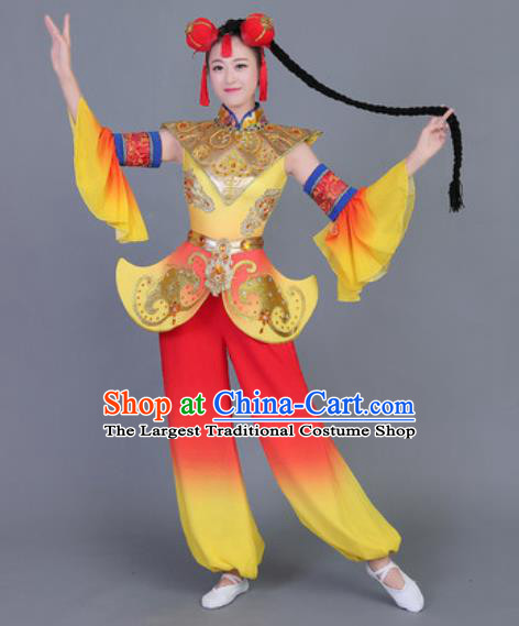 Chinese Traditional Classical Dance Fan Dance Costume Folk Dance Yangko Clothing for Women