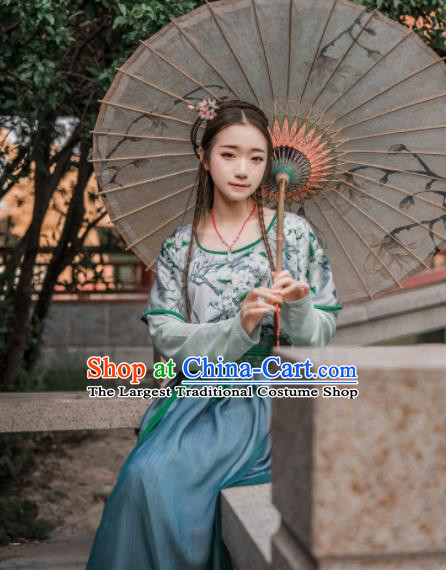 Chinese Traditional Ancient Costumes Tang Dynasty Palace Lady Hanfu Dress for Women