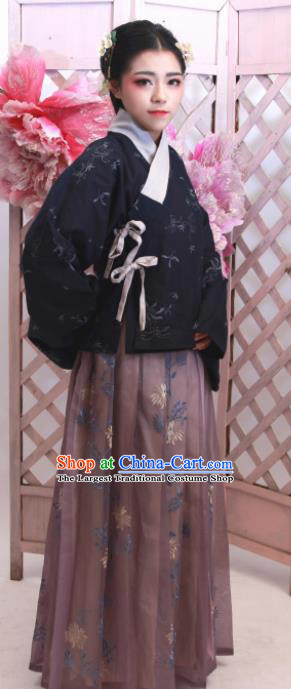 Chinese Traditional Ancient Costumes Ming Dynasty Nobility Lady Hanfu Dress for Women