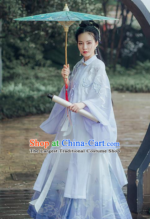 Chinese Ancient Embroidered Costumes Traditional Ming Dynasty Princess Hanfu Dress for Women