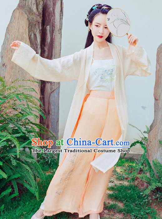 Chinese Ancient Princess Embroidered Costumes Traditional Song Dynasty Young Lady Hanfu Dress for Women