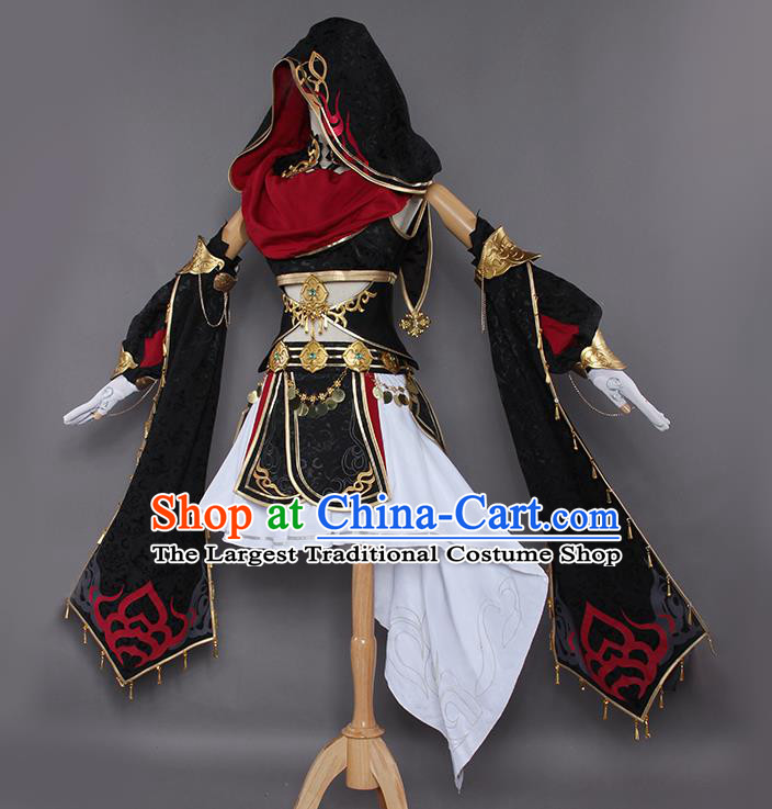 Chinese Traditional Cosplay Costumes Ancient Swordswoman Hanfu Dress for Women