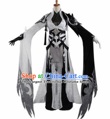 Chinese Traditional Cosplay General Costumes Ancient Swordswoman Hanfu Clothing for Women