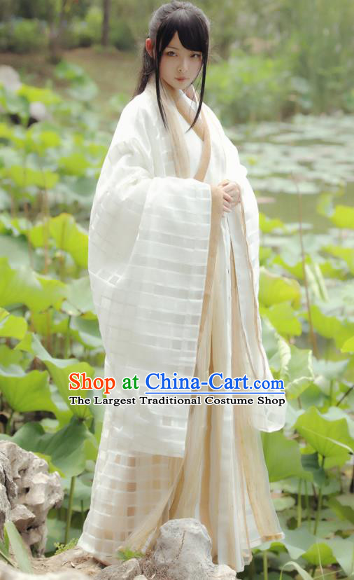 Chinese Ancient Historical Costumes Jin Dynasty Princess Hanfu Dress for Women
