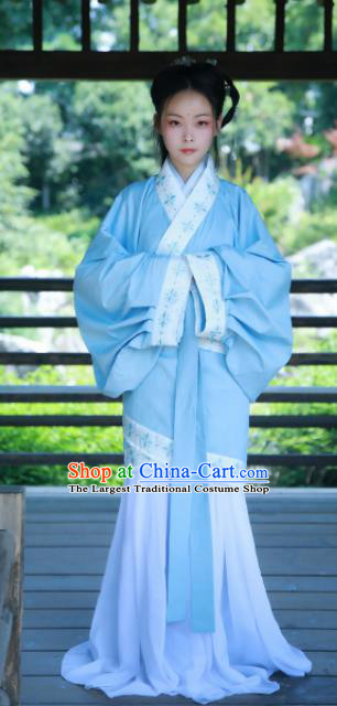 Chinese Ancient Palace Lady Historical Costumes Han Dynasty Princess Hanfu Dress for Women