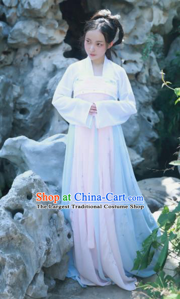 Chinese Ancient Princess Historical Costumes Tang Dynasty Palace Lady Hanfu Dress for Women