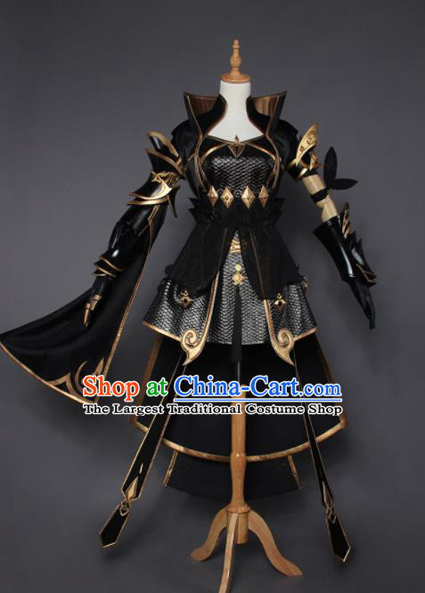 Chinese Traditional Cosplay Female Swordsman Costumes Ancient Knight Dress for Women