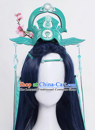 Chinese Traditional Cosplay Hair Accessories Ancient Swordsman Headwear for Men