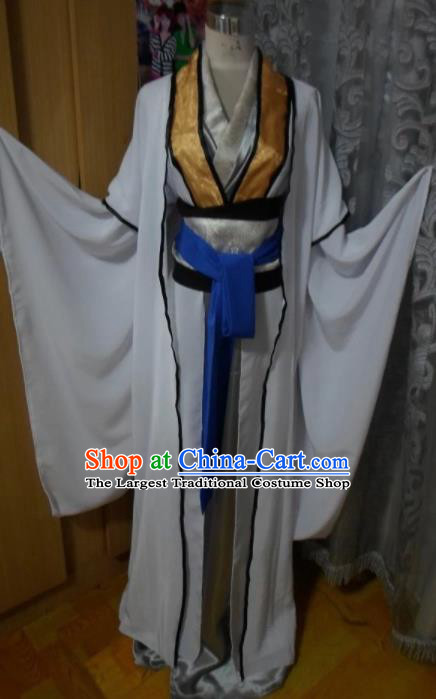 Chinese Traditional Embroidered Robe Ancient Han Dynasty Nobility Childe Costumes for Men