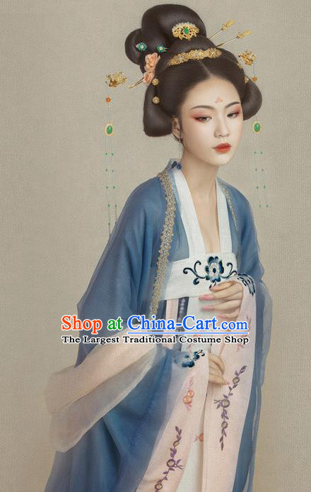 Traditional Chinese Tang Dynasty Imperial Consort Costumes Ancient Fairy Hanfu Dress for Women