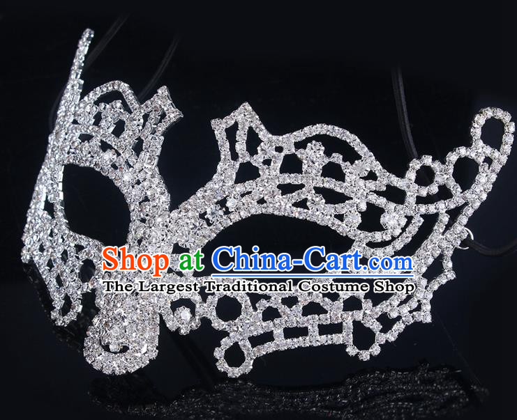 Handmade Halloween Accessories Face Mask Venice Fancy Ball Crystal Masks for Women