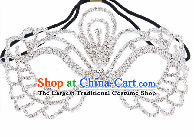 Handmade Halloween Accessories Zircon Face Mask Venice Fancy Ball Crystal Masks for Women
