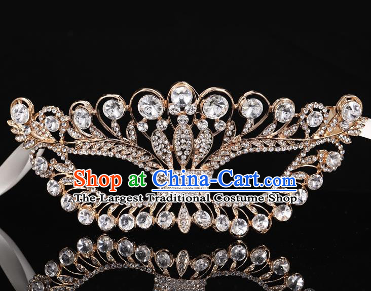 Handmade Halloween Accessories Venice Fancy Ball Cosplay Props Crystal Golden Masks for Women