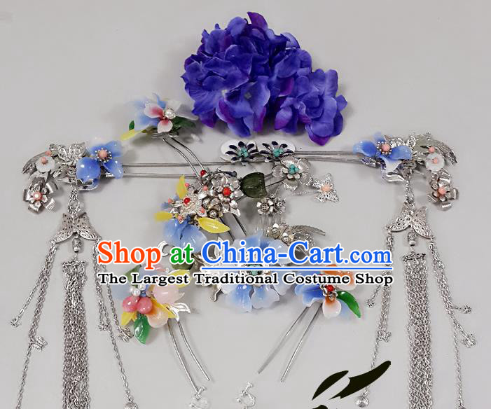 Chinese Ancient Tang Dynasty Imperial Consort Hair Accessories Hairpins Complete Set for Women