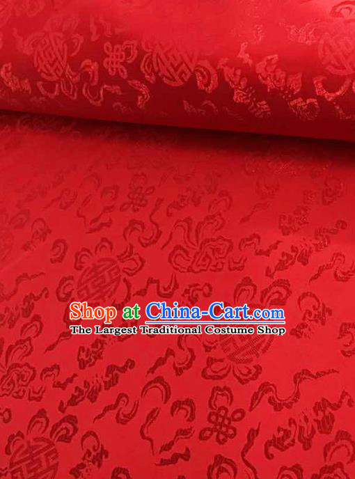 Traditional Chinese Tang Suit Silk Fabric Red Brocade Material Classical Pattern Design Satin Drapery