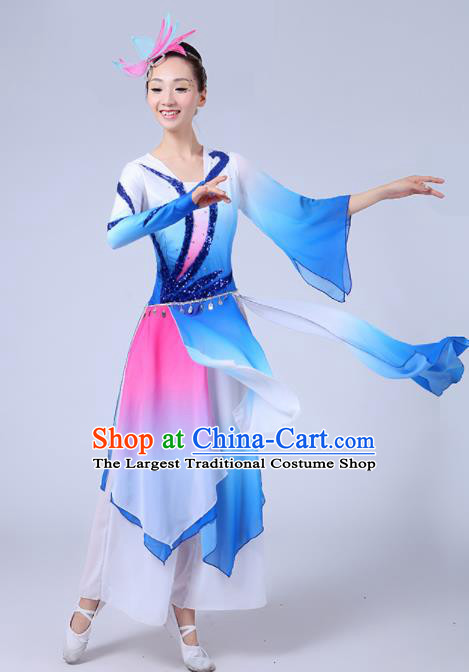 Chinese Traditional Classical Dance Costumes Folk Dance Fan Dance Clothing for Women