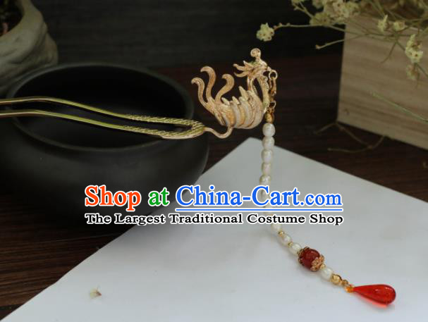 Chinese Traditional Handmade Hair Accessories Ancient Phoenix Tassel Hairpins Headwear for Women