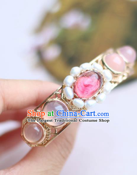 Chinese Traditional Handmade Hair Accessories Ancient Crystal Hairpins Headwear for Women