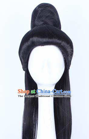 Traditional Chinese Drama Prince Peruke Handmade Wigs Ancient Swordsman Chignon for Men