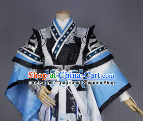 Asian Chinese Cosplay Taoist Priest Swordsman Costumes Ancient Royal Highness Clothing for Men