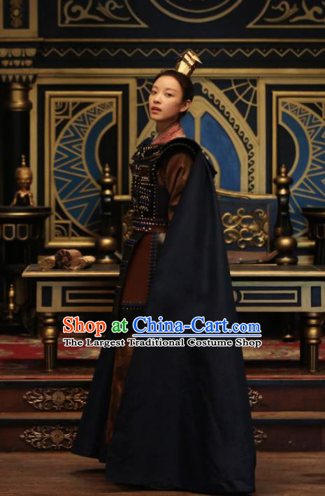 Chinese Ancient Female General Costumes The Rise of Phoenixes Swordswoman Body Armor for Women