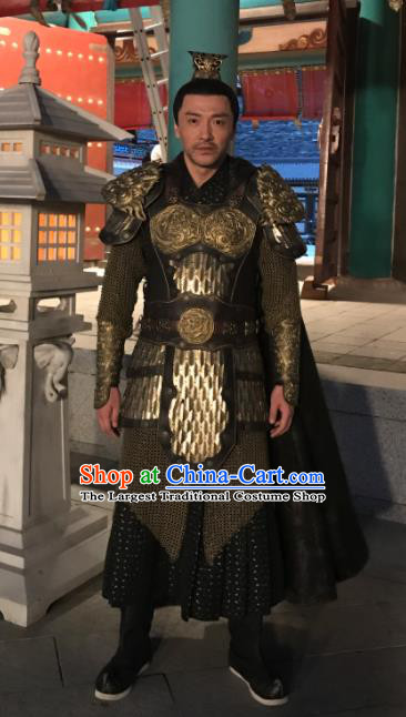 Chinese Traditional Ancient Costumes The Rise of Phoenixes Tang Dynasty General Body Armor for Men