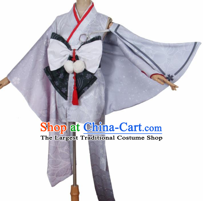 Asian Japanese Traditional Cosplay Yokime Costumes Ancient Furisode Kimono Yukata Clothing for Women