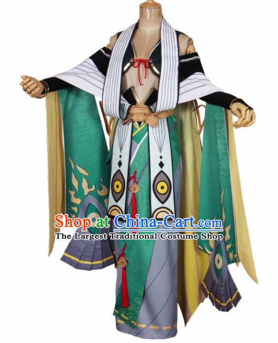 Asian Japanese Traditional Cosplay Swordsman Costumes Ancient Onmyoji Clothing for Men